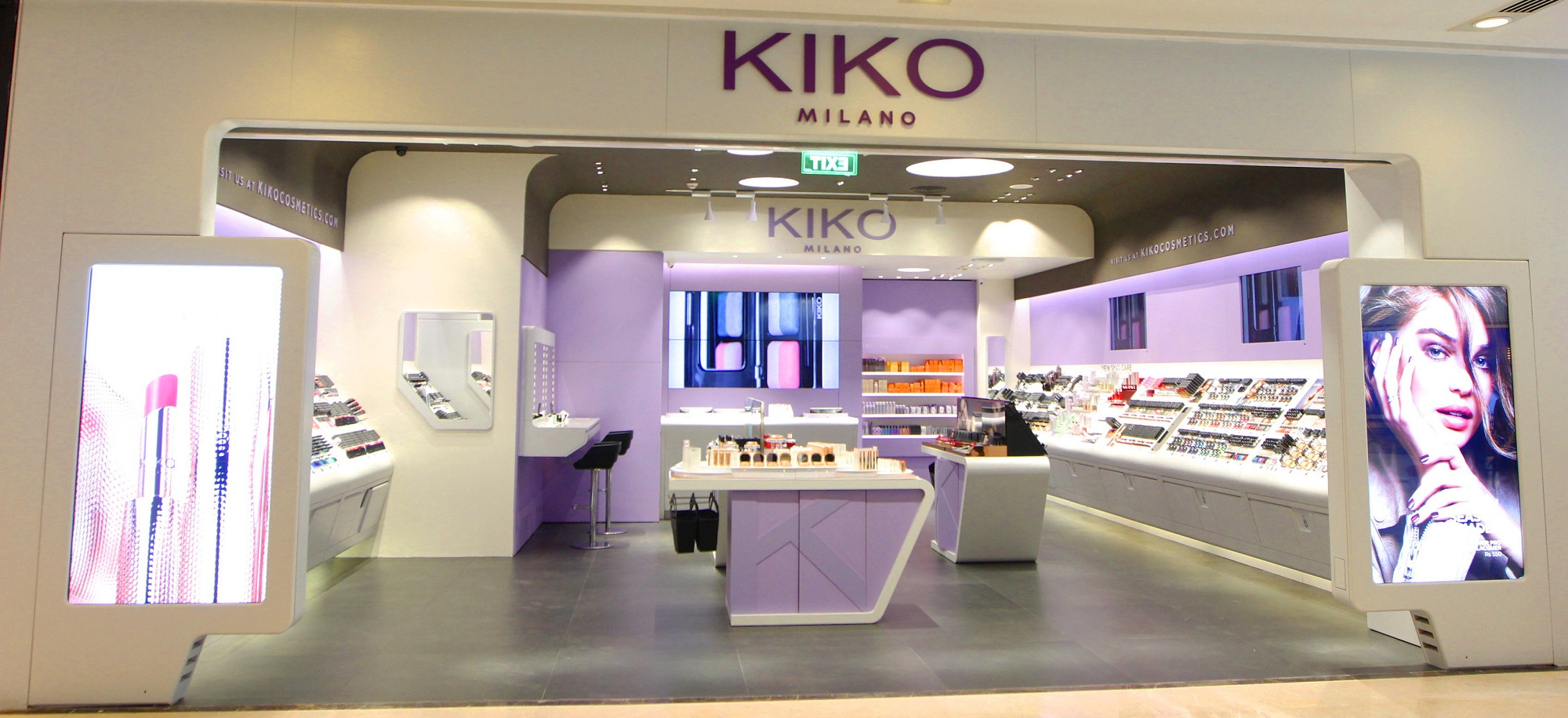 Beauty brand kiko opens flagship store in india aaarzu for Shop milano